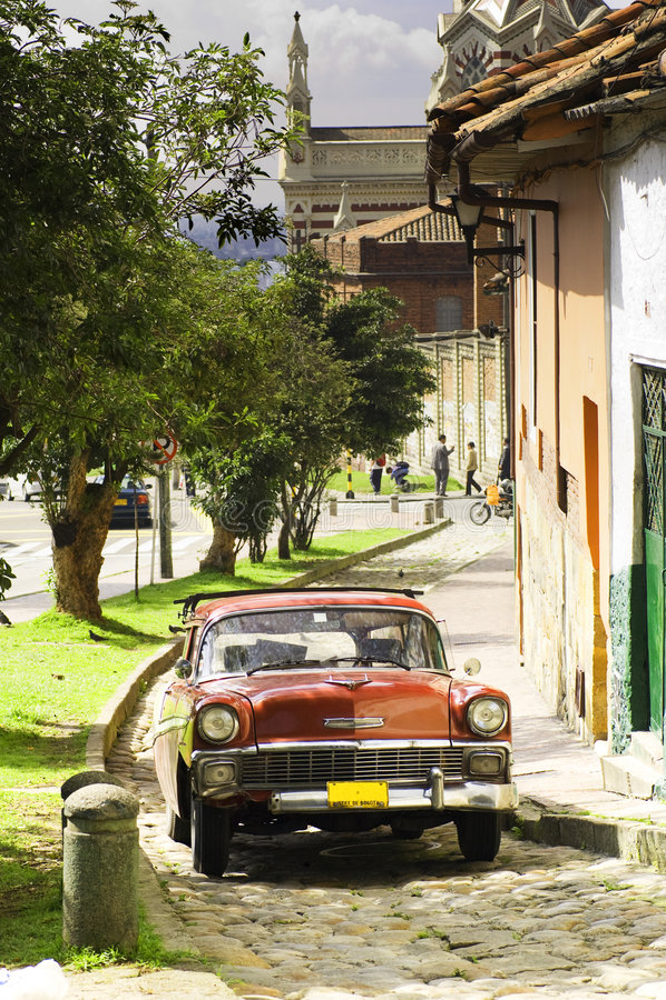 Carro Bogotá do vintage imagens de stock royalty free