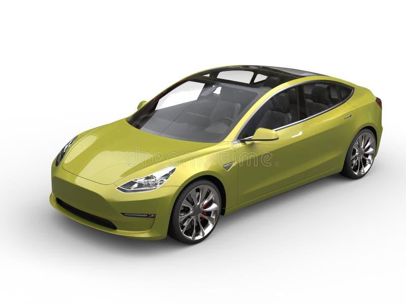 Carro bonde bonito do verde-lima metálico ilustração royalty free