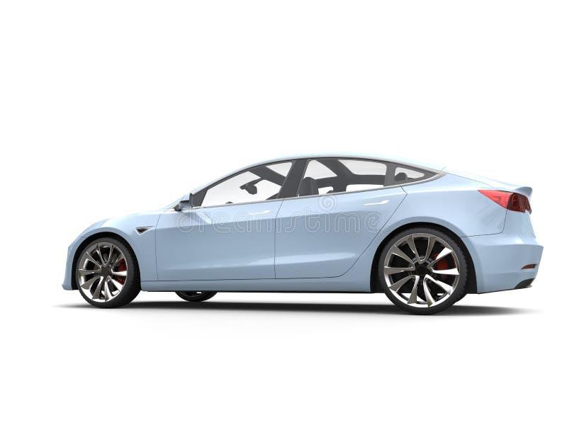 Carro bonde moderno liso azul Aero ilustração stock