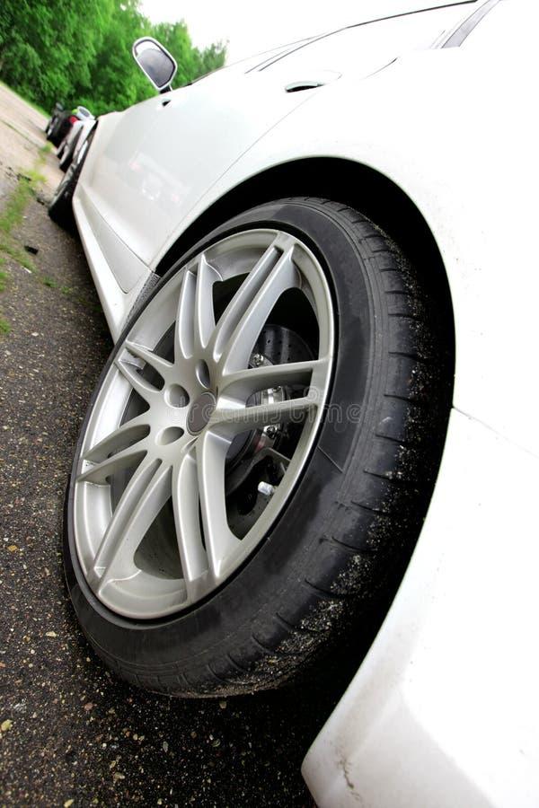 Carro branco imagens de stock royalty free
