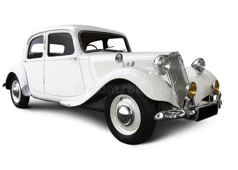 Carro branco do casamento fotos de stock royalty free