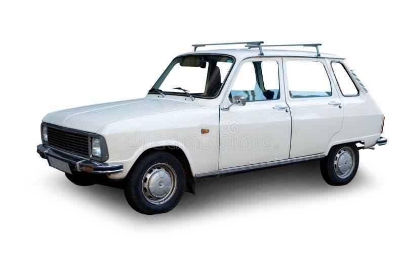 Carro branco velho imagem de stock royalty free