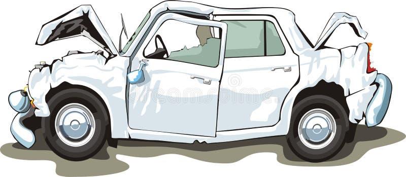 carro causado um crash ilustração do vetor