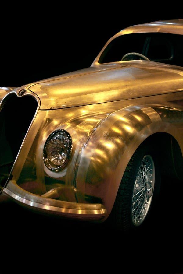Carro chapeado cromo de Romeo Vintage do alfa foto de stock royalty free
