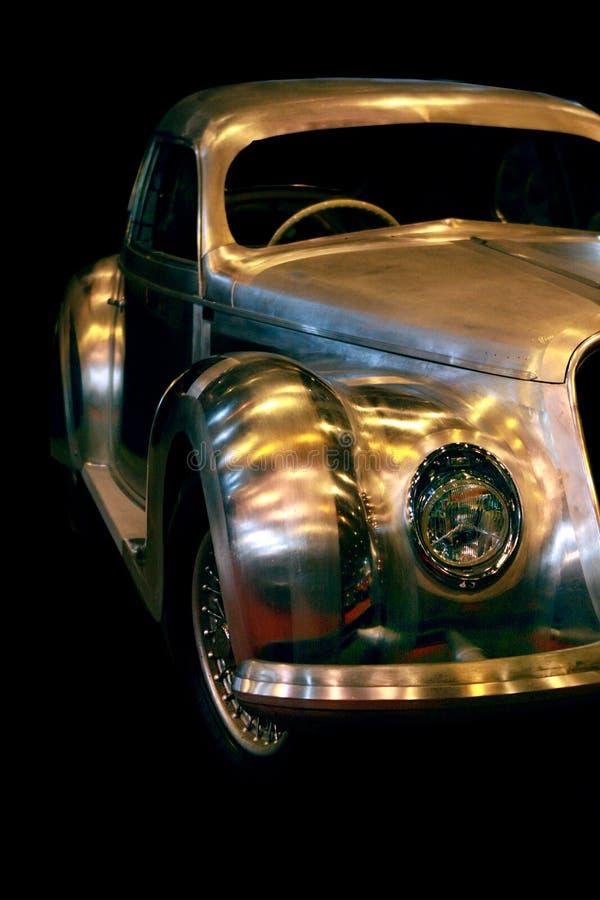 Carro chapeado cromo de Romeo Vintage do alfa fotografia de stock