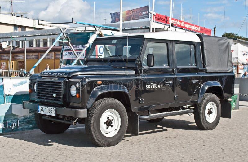 Carro clássico de Ingleses Land rover fotografia de stock royalty free