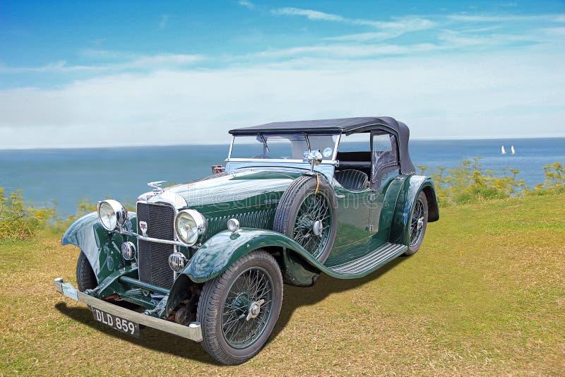 Carro clássico do convertible dos alvis do vintage fotos de stock