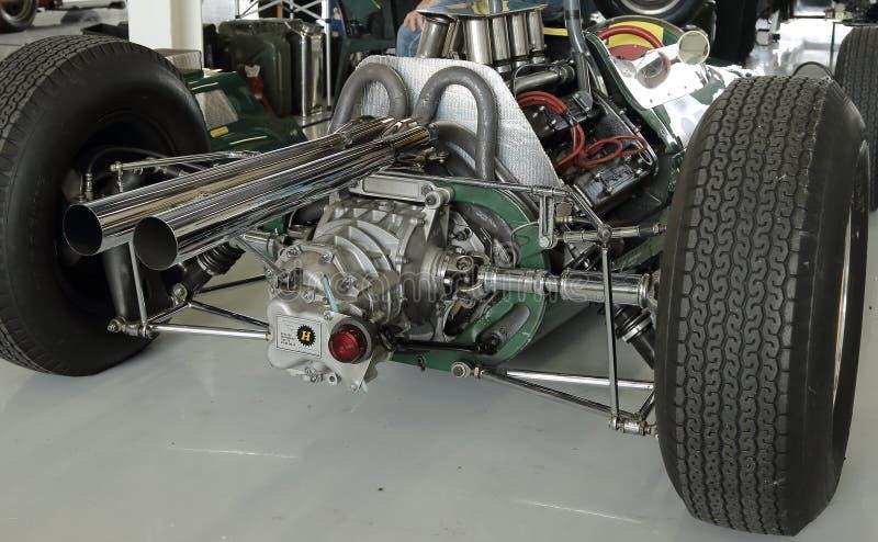 Carro clássico dos anos 60 F1, clássico 2014 de Silverstone foto de stock royalty free