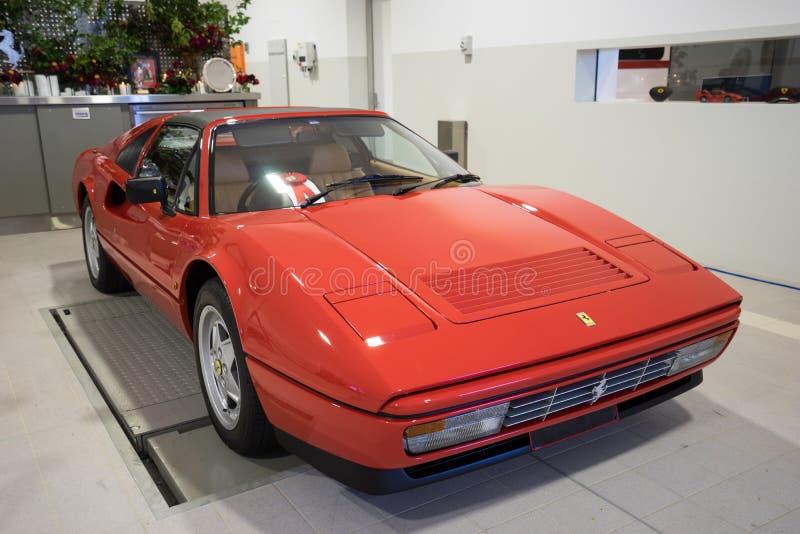 Carro clássico vermelho de Ferrari fotos de stock royalty free