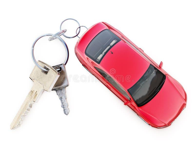 Carro com conceito do anel chave fotos de stock