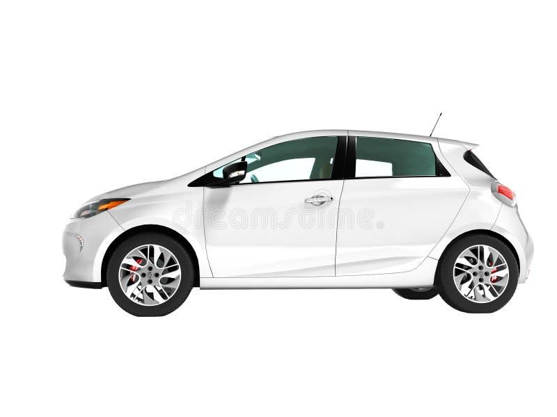 Carro com porta traseira moderno do carro bonde para cursos para o branco novo da família fotos de stock royalty free