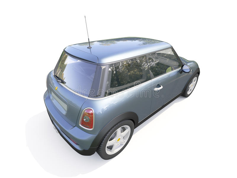 Carro compacto moderno imagens de stock