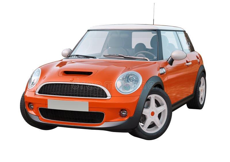 Carro compacto moderno isolado fotografia de stock