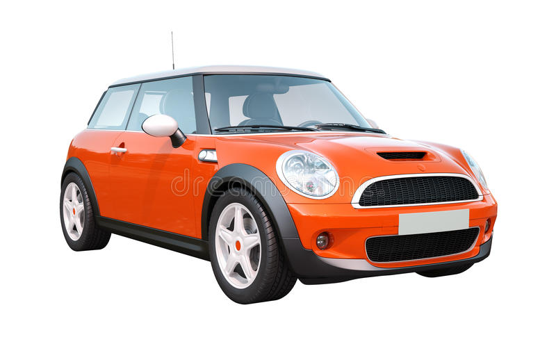 Carro compacto moderno isolado foto de stock royalty free
