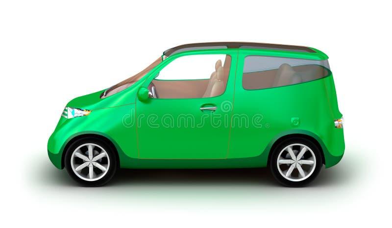 Carro compacto no fundo branco ilustração stock