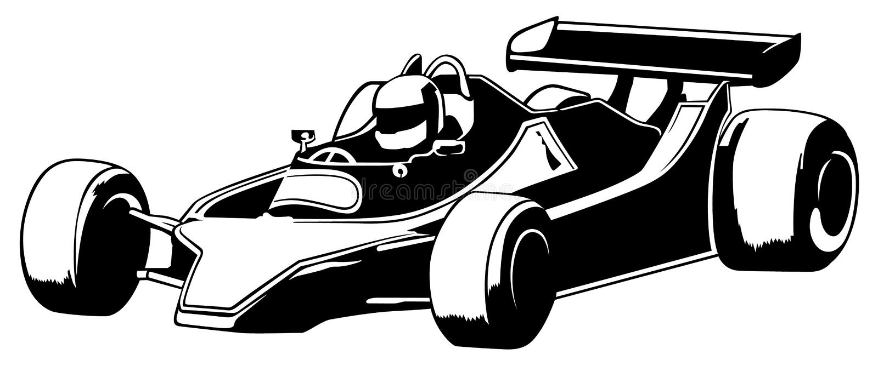 Carro competindo ilustração stock