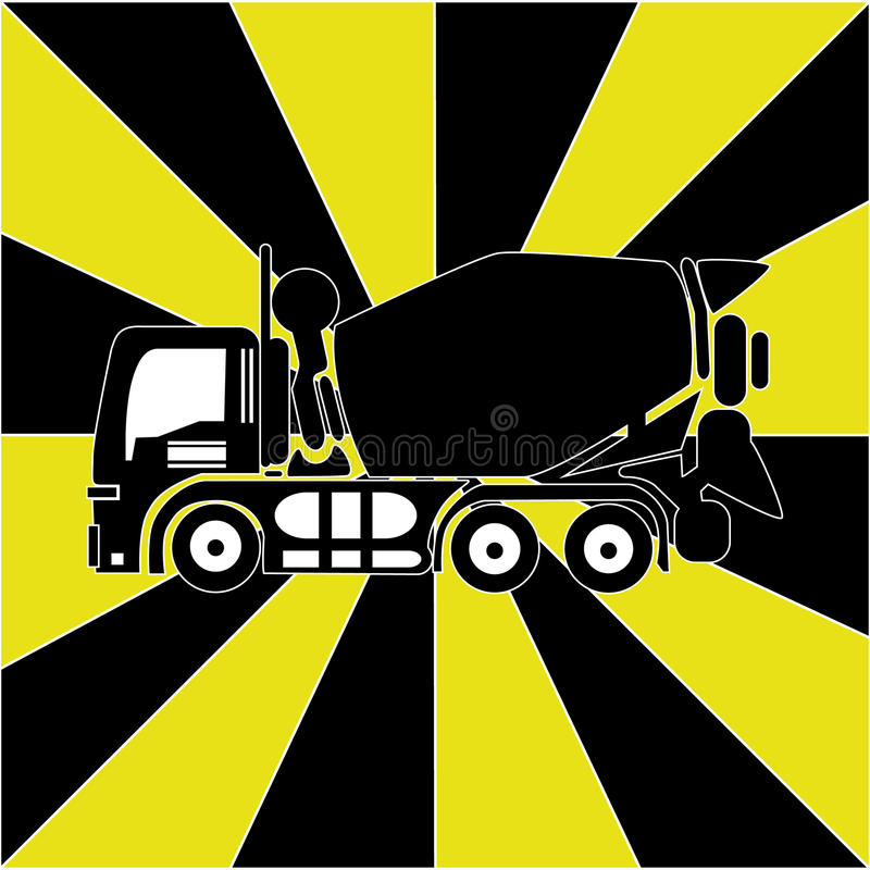 Carro concreto stock de ilustración