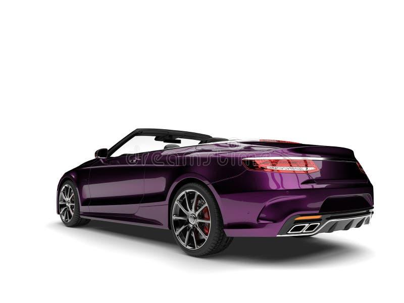 Carro convertível luxuoso moderno magenta metálico ilustração do vetor