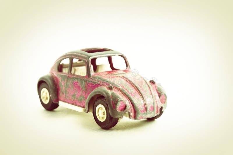 Carro cor-de-rosa do brinquedo do vintage imagem de stock