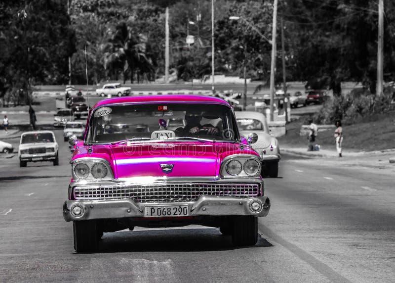 Carro cubano velho fotos de stock