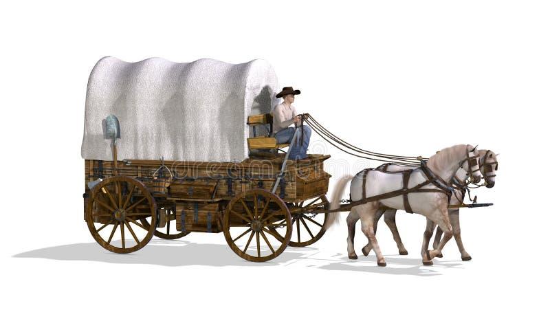 Carro cubierto stock de ilustración