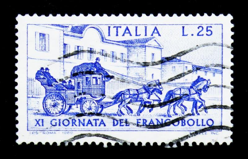 Carro, día del sello, serie, circa 1969 libre illustration