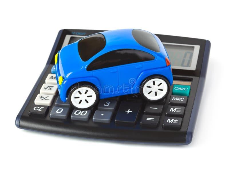 Carro da calculadora e do brinquedo imagem de stock