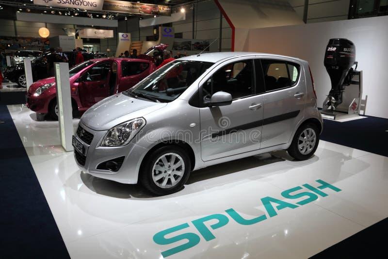 Carro da cidade de Suzuki Splash fotografia de stock