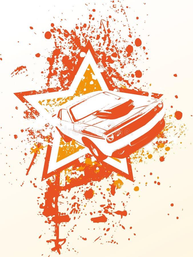 Carro da estrela ilustração do vetor