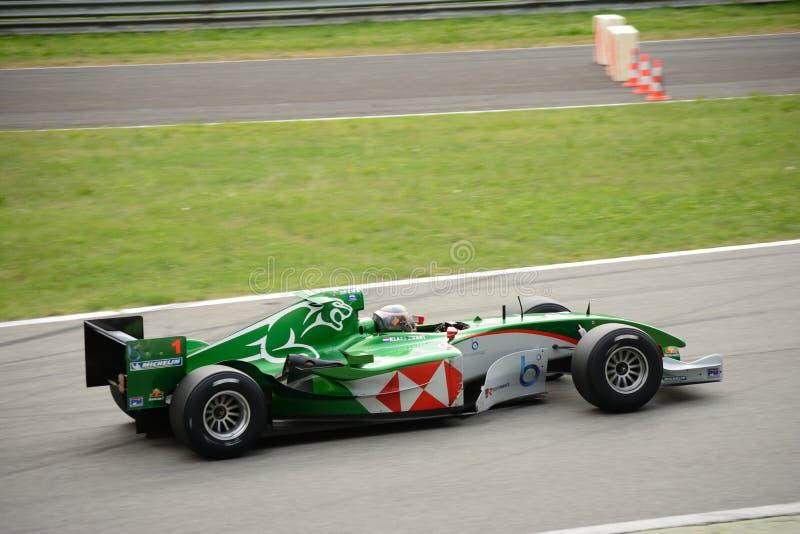 Carro da fórmula 1 de GP Jaguar R5 do chefe imagem de stock royalty free