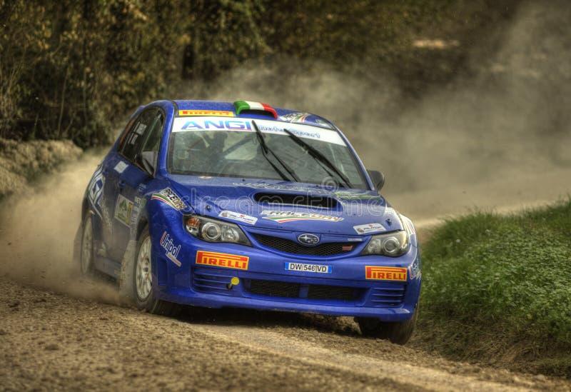 Carro da reunião da WTI do impreza de Subaru fotografia de stock royalty free