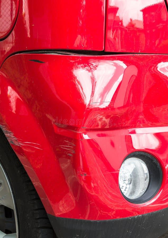 Carro danificado imagem de stock