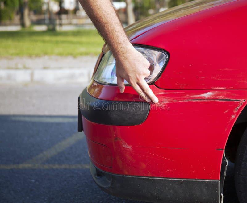 Carro danificado fotos de stock