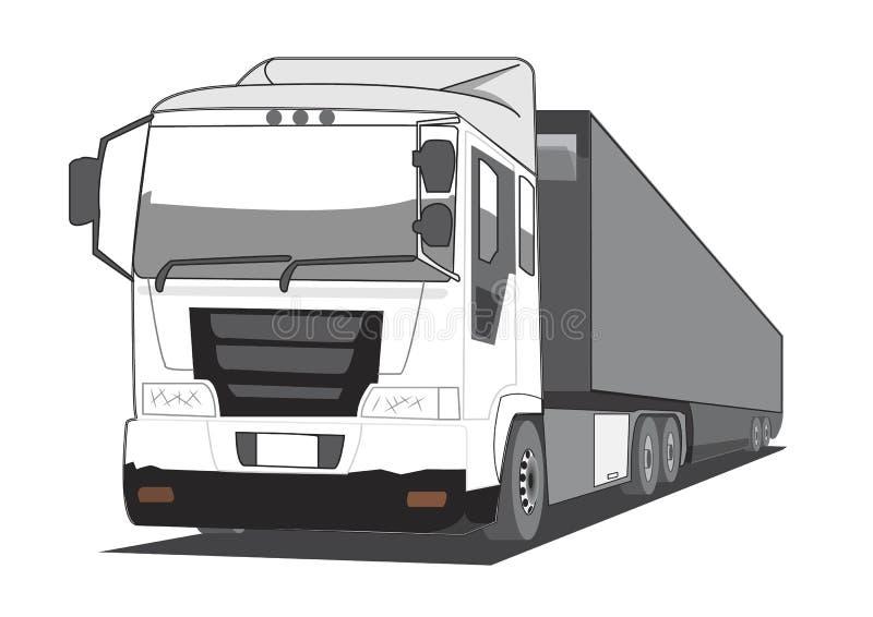 Carro de acoplado ilustración del vector