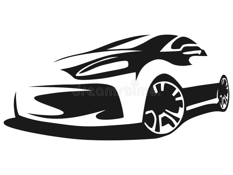 Carro de ajustamento da silhueta ilustração do vetor