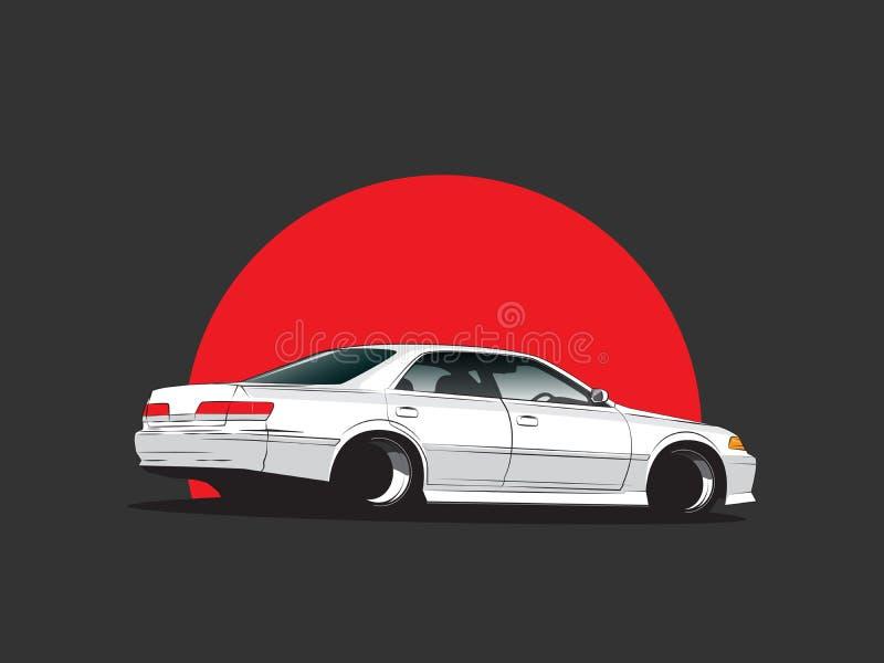 Carro de ajustamento de japão do vetor ilustração royalty free