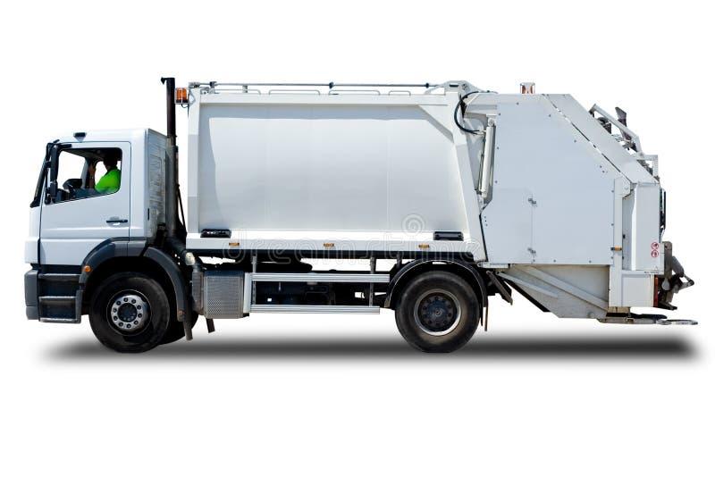 Carro de basura fotografía de archivo