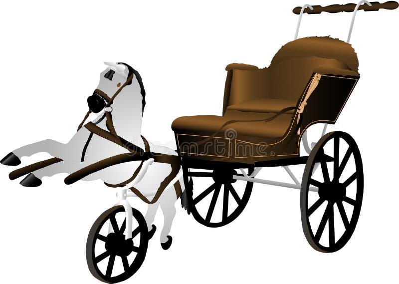 Carro de bebê ilustração royalty free