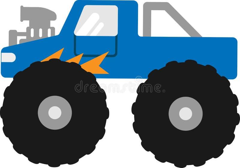 Carro de bigfoot do vetor em um fundo branco ilustração stock