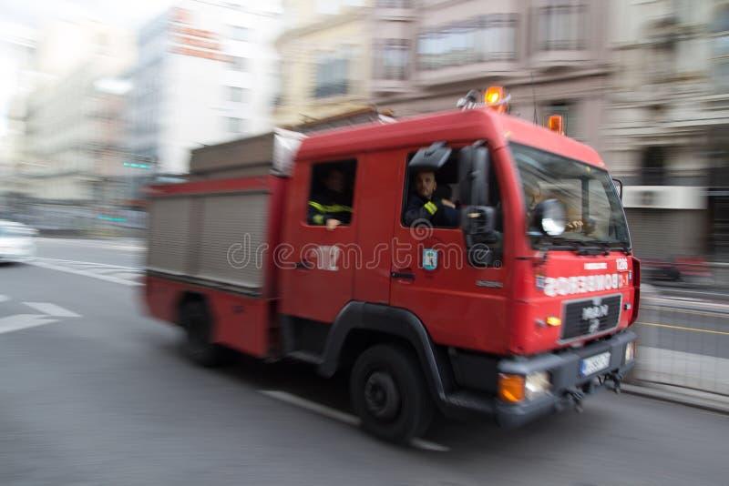 Carro de bombeiros do Madri fotos de stock