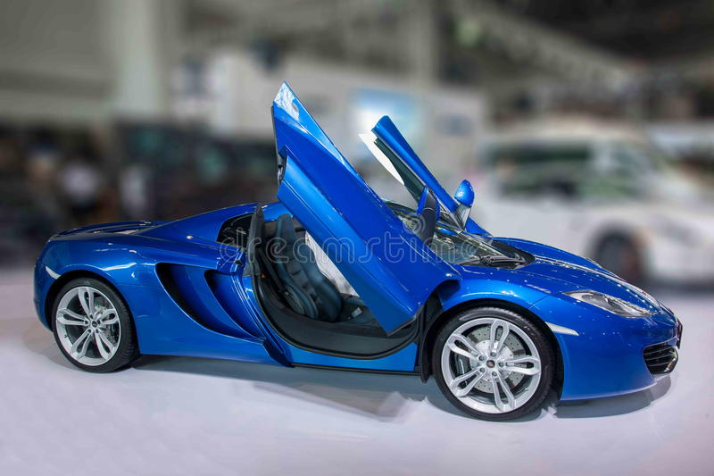 Carro de Chongqing Auto Show McLaren Series imagens de stock