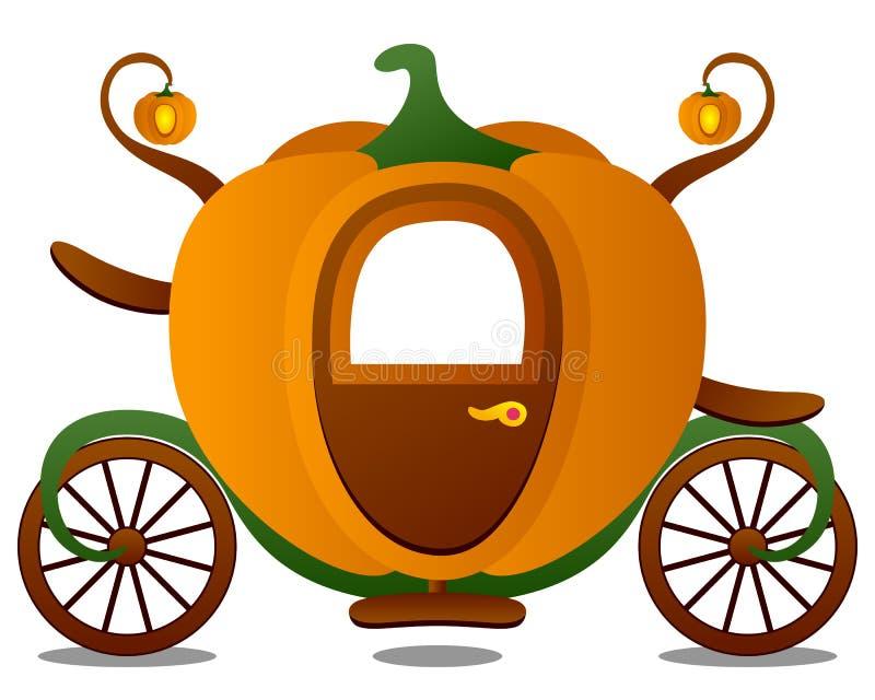 Carro de Cinderella stock de ilustración