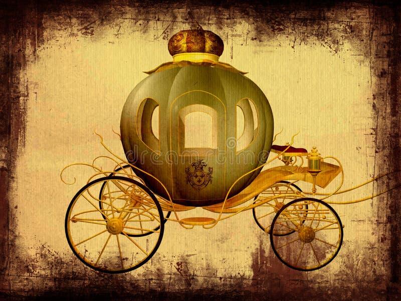 Carro de Cinderella ilustração royalty free