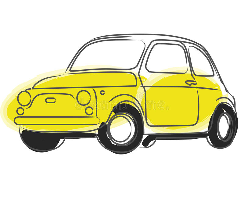 Carro de Cinquecento ilustração royalty free