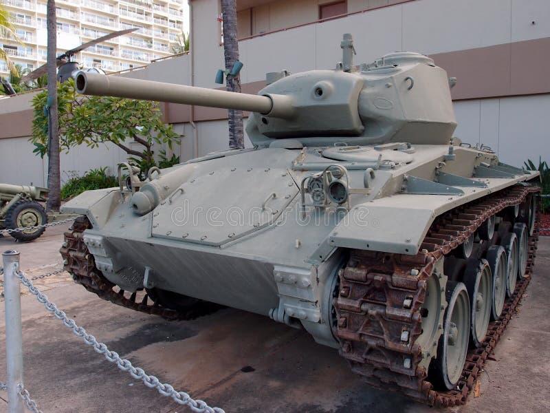 Carro de combate leve dos E.U., M24 na exposição no museu do exército imagens de stock
