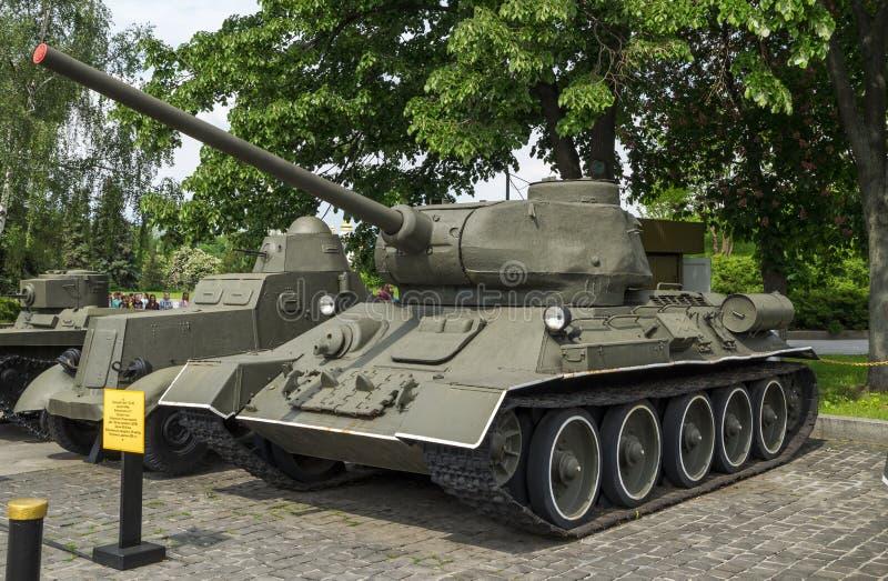 Carro de combate médio T-34-85 soviético imagens de stock