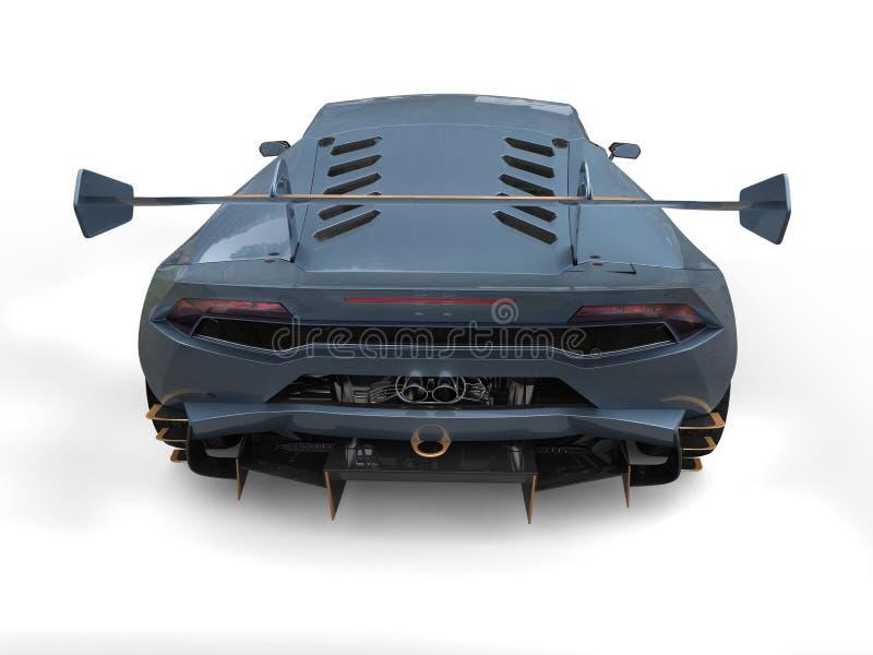 Carro de competência com acentos do ouro - vista traseira do azul de aço ilustração royalty free