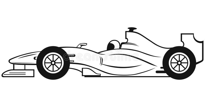 Carro de competência da fórmula 1 ilustração do vetor