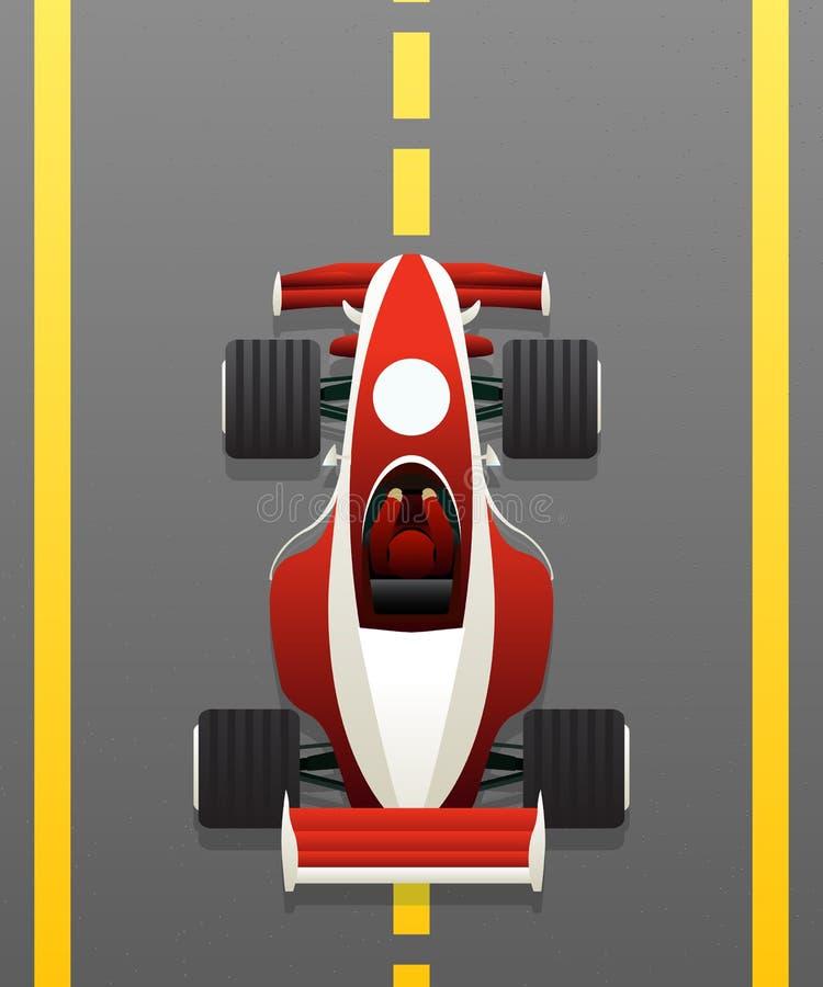 Carro de competência vermelho ilustração royalty free