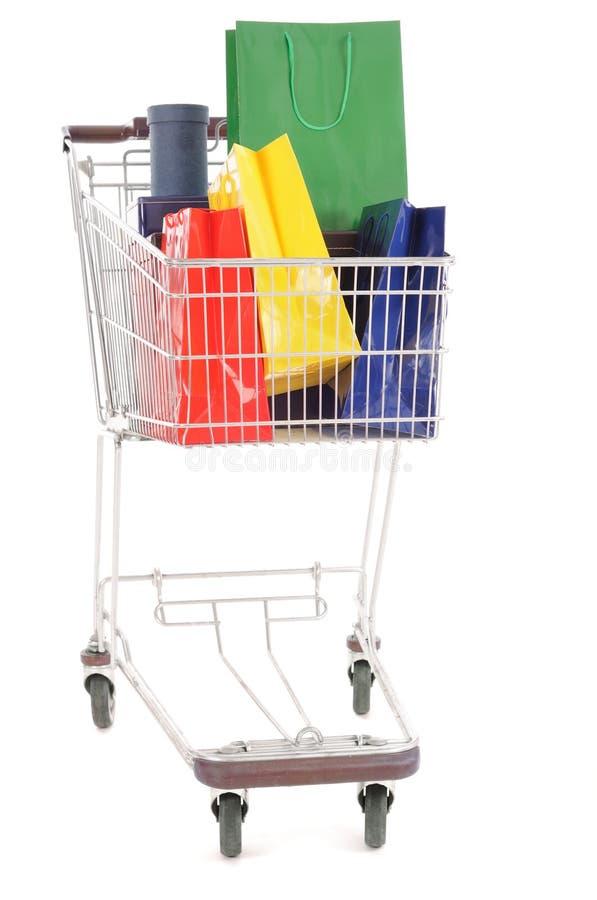 Carro de compra imagem de stock